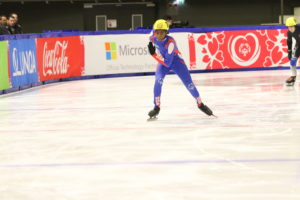 Cornell competes in the Special Olympics World Games in speed skating
